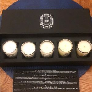 Diptyque 5 candles legende du nord NWT